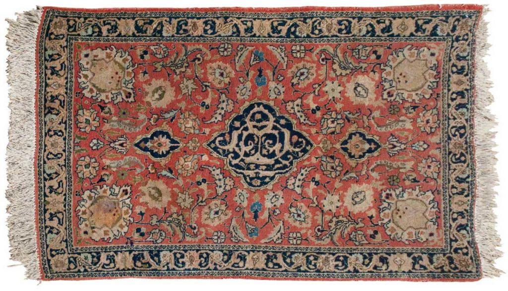 3×4 Persian Tabriz Rust Oriental Rug 035059
