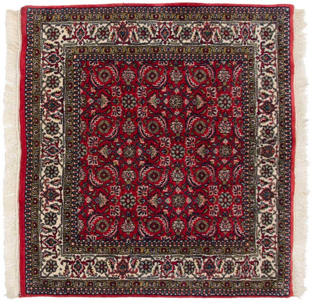 4×4 Herati Red Oriental Square Rug 031056