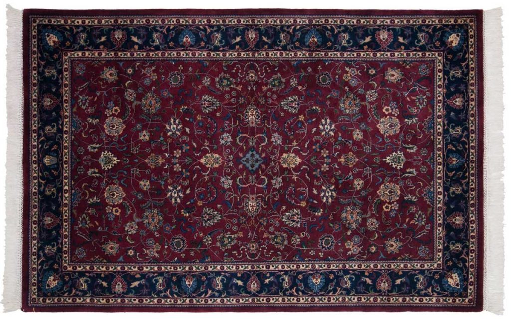 4×7 Meshed Red Oriental Rug 024540