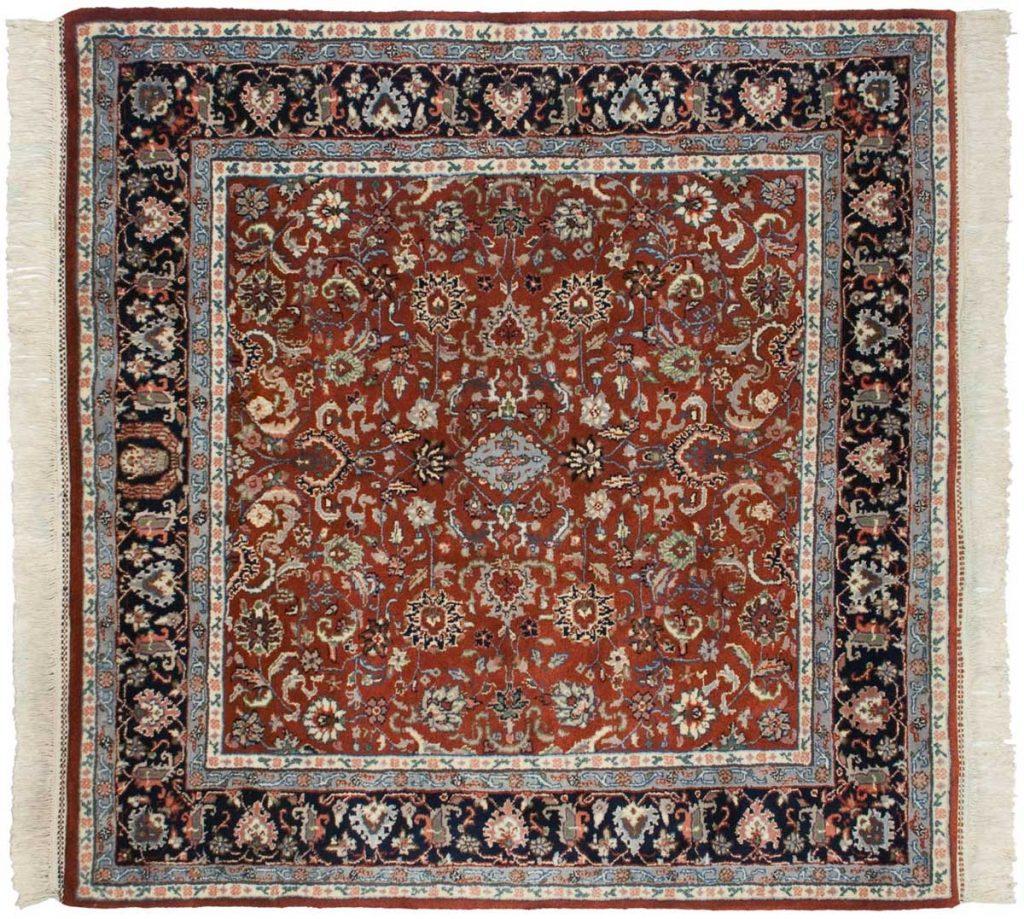 5×5 Kashan Rust Oriental Square Rug 034099