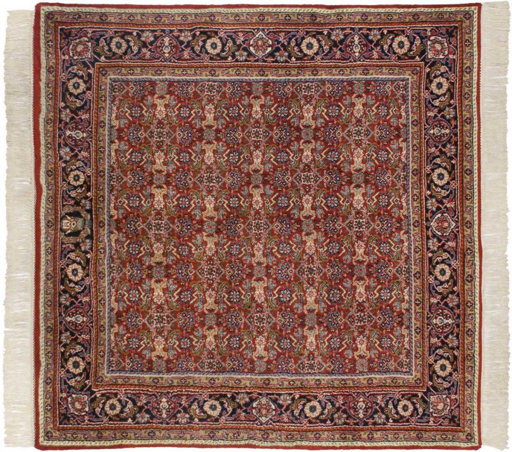 5×5 Tabriz Red Oriental Square Rug 033739