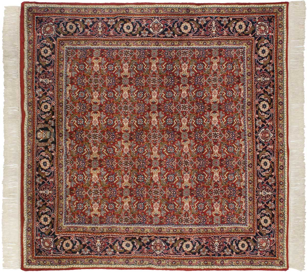5 215 5 Tabriz Red Oriental Square Rug 033739 Carpets By