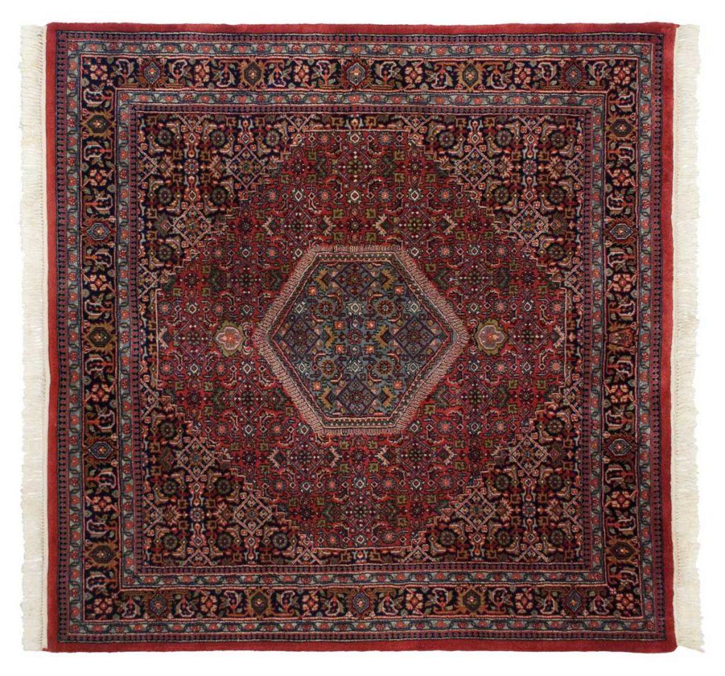 6×6 Bijar Red Oriental Square Rug 036078